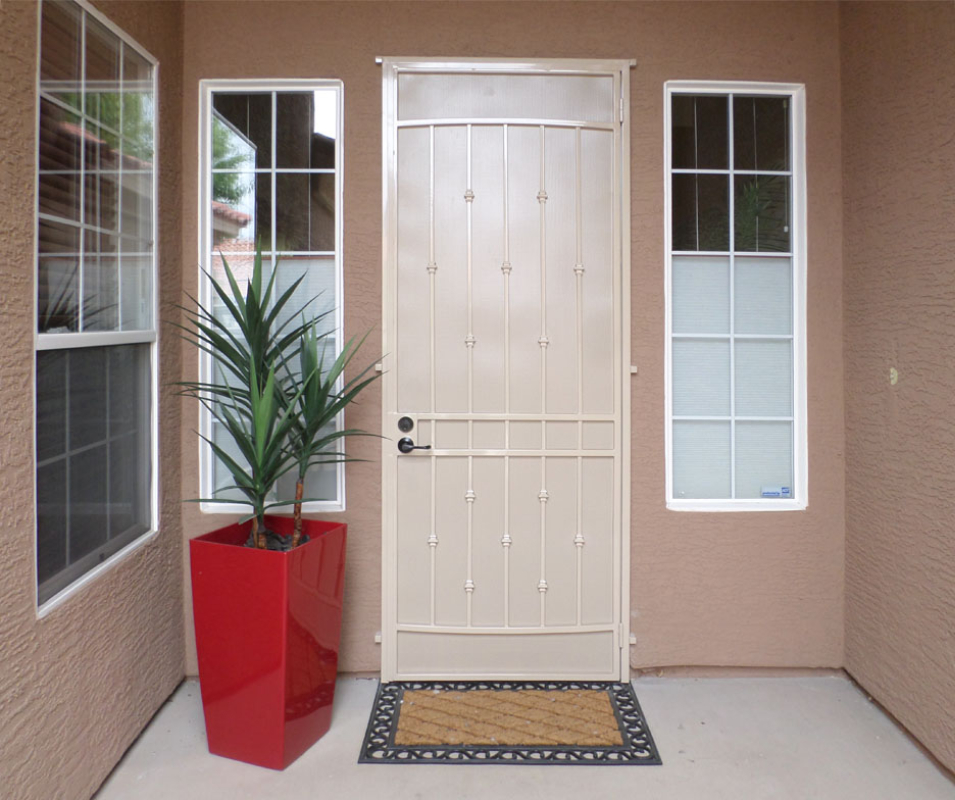 Traditional Custom Archive Security Door - Item SD0199 Wrought Iron Design In Las Vegas