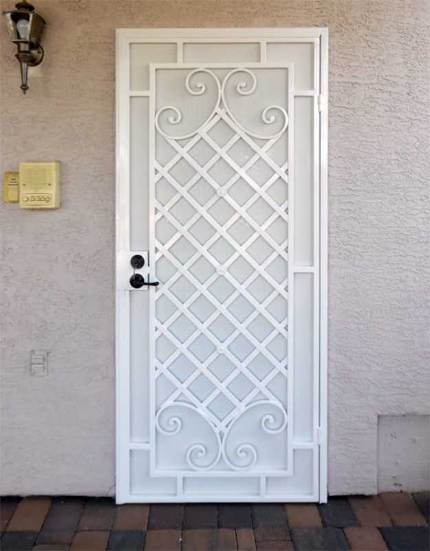 Traditional Custom Archive Security Door - Item SD0229 Wrought Iron Design In Las Vegas