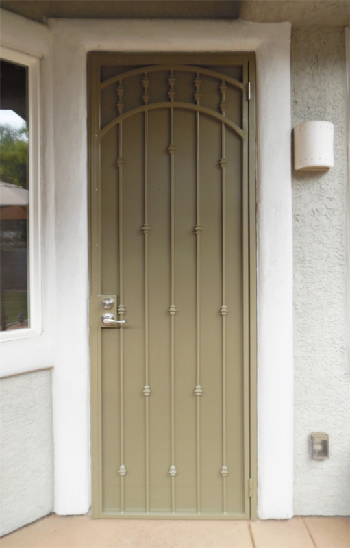 Traditional Custom Archive Security Door - Item SD0264 Wrought Iron Design In Las Vegas