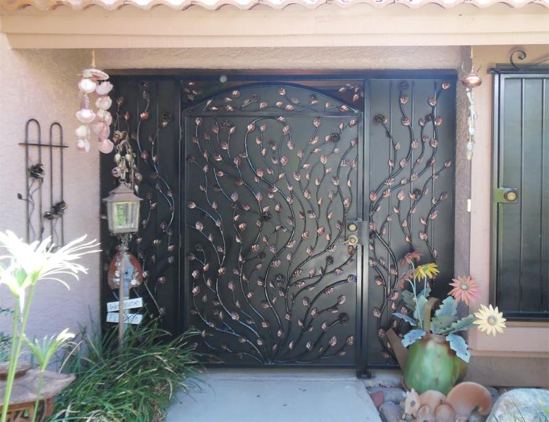 Traditional Custom Archive Venice Entryway Door - Item EW0237A Wrought Iron Design In Las Vegas