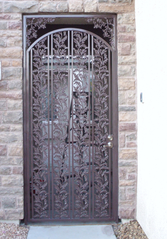 Traditional Debussy Entryway Door - Item EW0060 Wrought Iron Design In Las Vegas