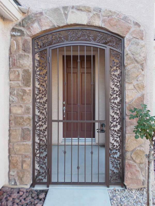 Traditional Debussy Entryway Door - Item EW0326 Wrought Iron Design In Las Vegas