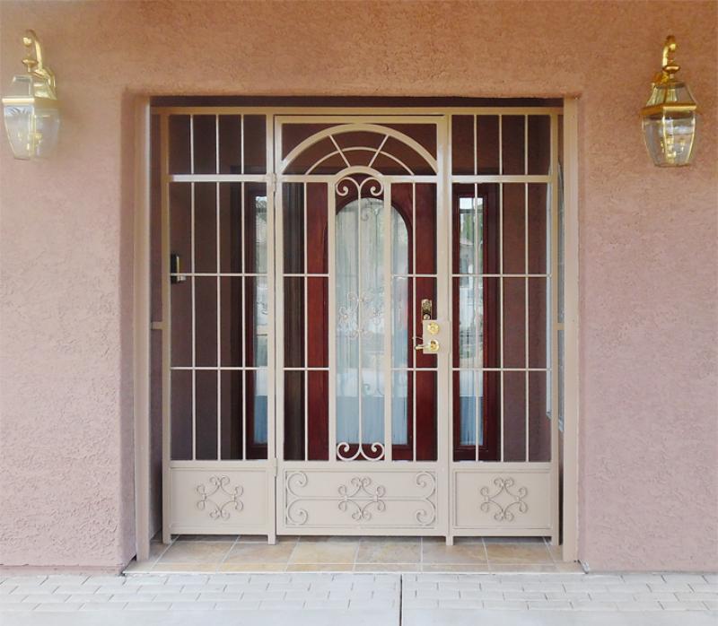 Traditional Dixie Entryway Door - Item EW0491 Wrought Iron Design In Las Vegas