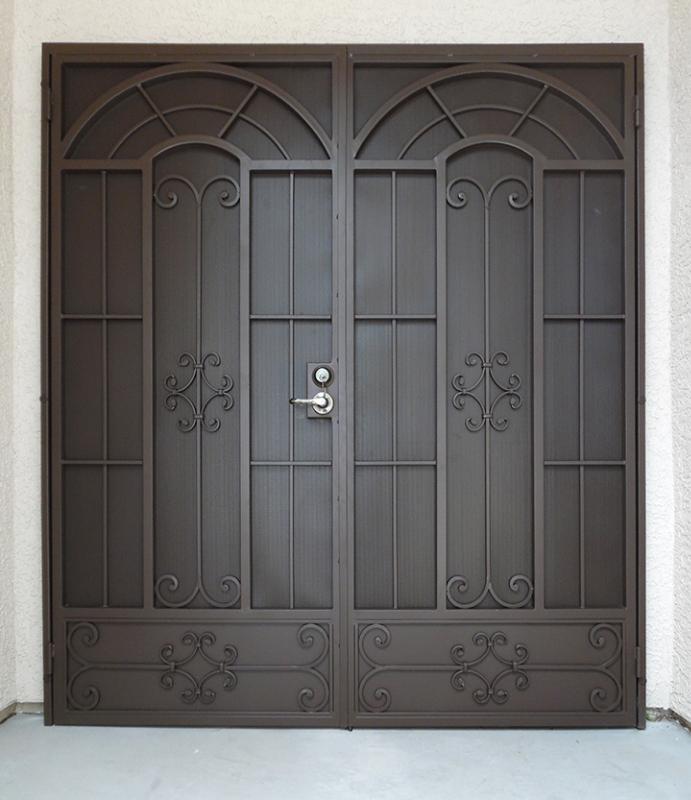 Traditional Double Security Door - Item Dixie FD0134 Wrought Iron Design In Las Vegas