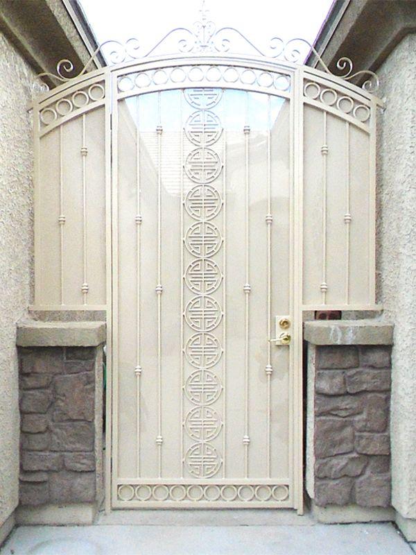 Traditional Courtyard & Entryway Gates CE0368A Wrought Iron Design In Las Vegas