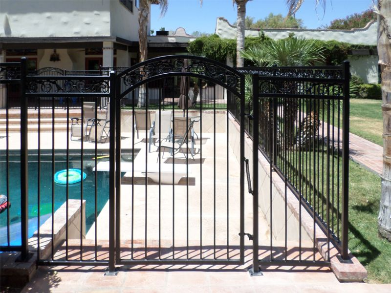 Traditional Fencing F0128B Wrought Iron Design In Las Vegas