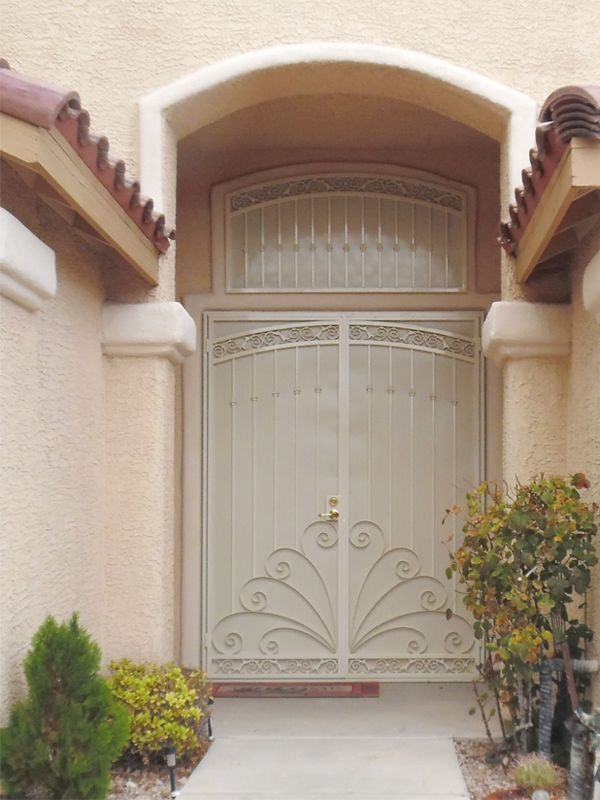 Traditional Window Guard FD0076A Wrought Iron Design In Las Vegas