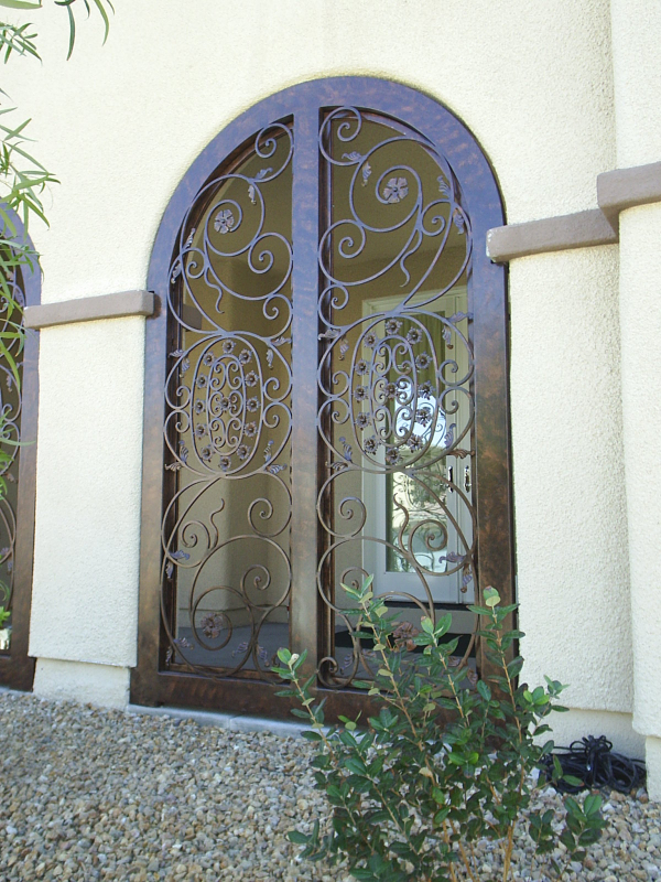Traditional Favela Entryway Door - Item EW0049 Wrought Iron Design In Las Vegas