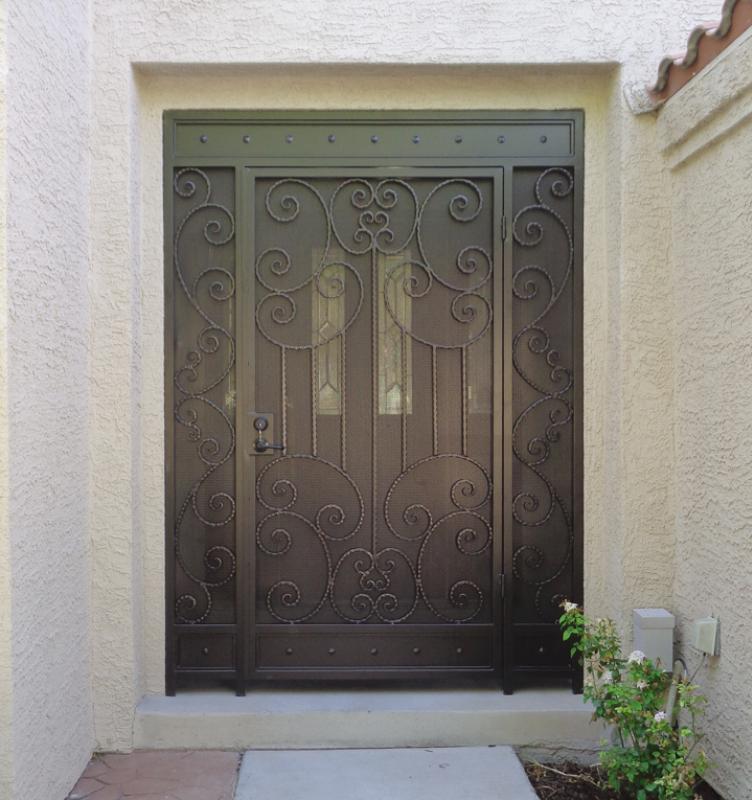 Traditional Fiona Entryway Door - Item EW0419 Wrought Iron Design In Las Vegas