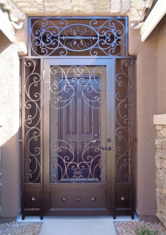 Traditional Fiona Entryway Door - Item EW0498 Wrought Iron Design In Las Vegas