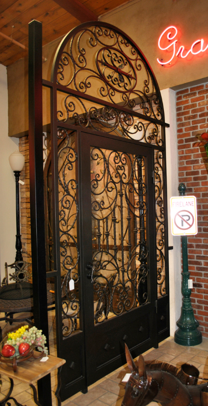 Traditional Fiona Entryway Door - Item EW0498A Wrought Iron Design In Las Vegas