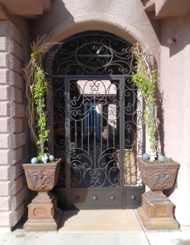 Traditional Fiona Entryway Door - Item EW0498B Wrought Iron Design In Las Vegas