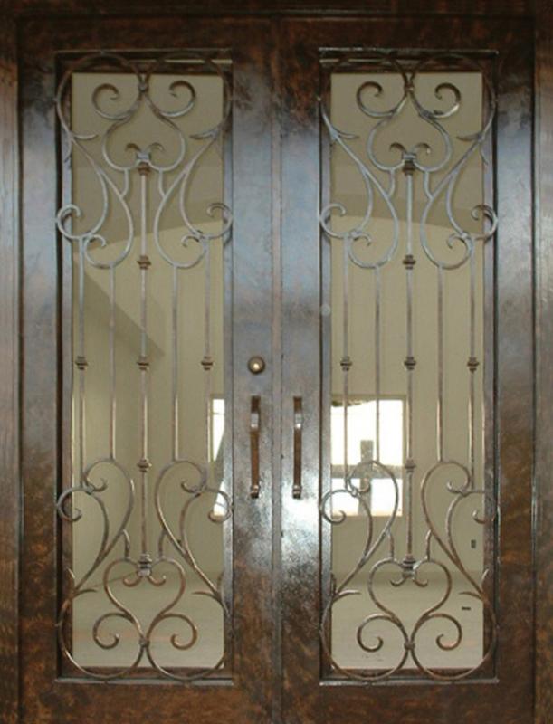 Traditional Front Door - Item Biscay GE0023 Wrought Iron Design In Las Vegas