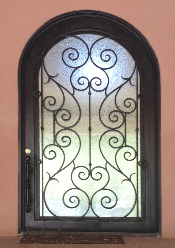 Traditional Front Door - Item Biscay GE0105 Wrought Iron Design In Las Vegas