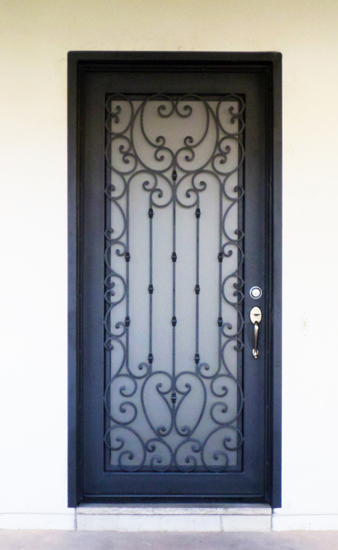 Traditional Front Door - Item Duchess GE0133 Wrought Iron Design In Las Vegas