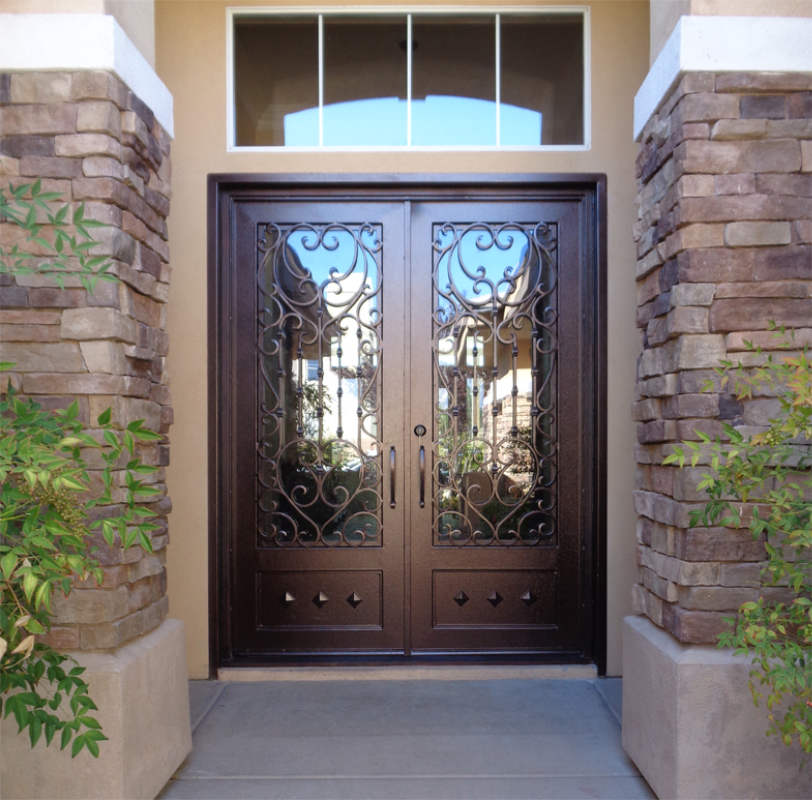 Traditional Front Door - Item Duchess GE0174 Wrought Iron Design In Las Vegas