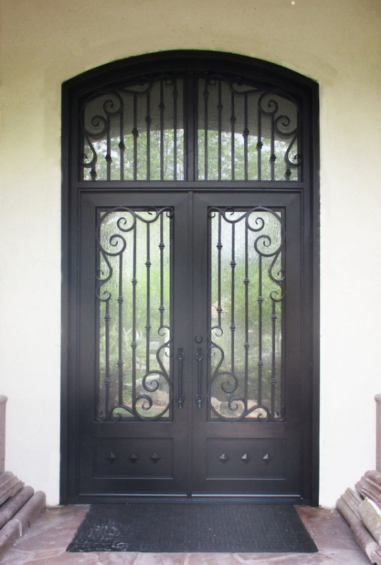 Traditional Front Door - Item Melodia GE0062A Wrought Iron Design In Las Vegas