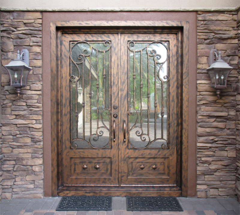 Traditional Front Door - Item Melodia GE0062B Wrought Iron Design In Las Vegas