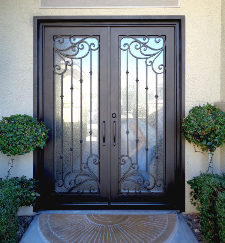 Traditional Front Door - Item Melodia GE0189 Wrought Iron Design In Las Vegas