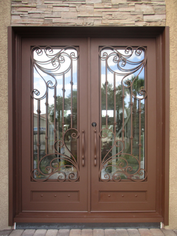 Traditional Front Door - Item Melodia GE0189B Wrought Iron Design In Las Vegas
