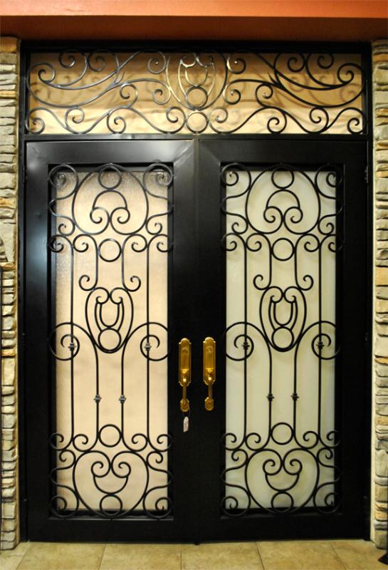 Traditional Front Door - Item Saharan GE0047SR Wrought Iron Design In Las Vegas
