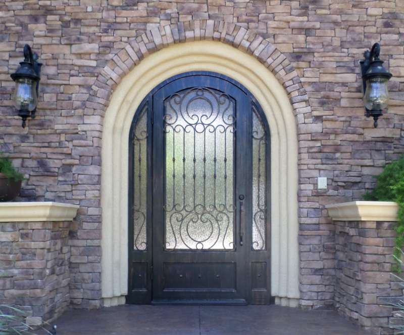 Traditional Front Door - Item Saharan GE0161 Wrought Iron Design In Las Vegas
