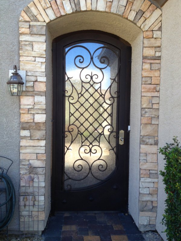 Traditional Front Door - Item Saxon GE0169 Wrought Iron Design In Las Vegas