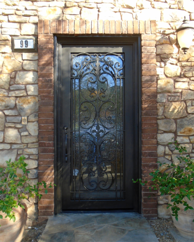 Traditional Front Door - Item Toulouse GE0206 Wrought Iron Design In Las Vegas