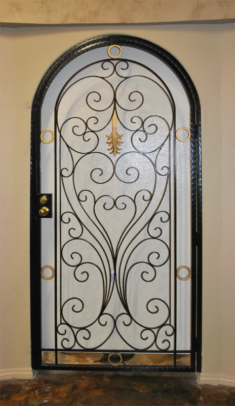 Traditional Genesis Entryway Door - Item EW0155 Wrought Iron Design In Las Vegas
