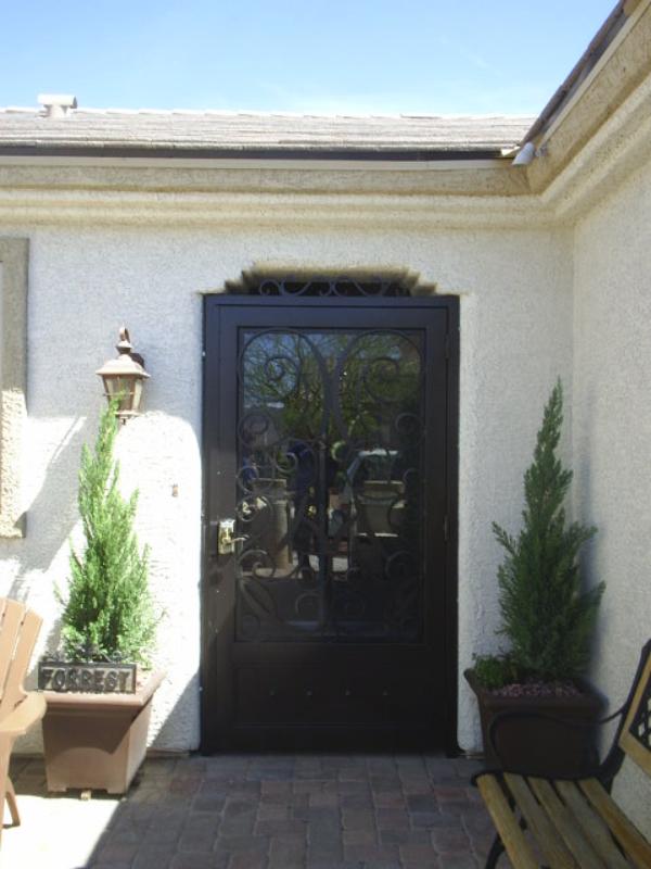 Traditional Glasgow Entryway Door - Item EW0306 Wrought Iron Design In Las Vegas