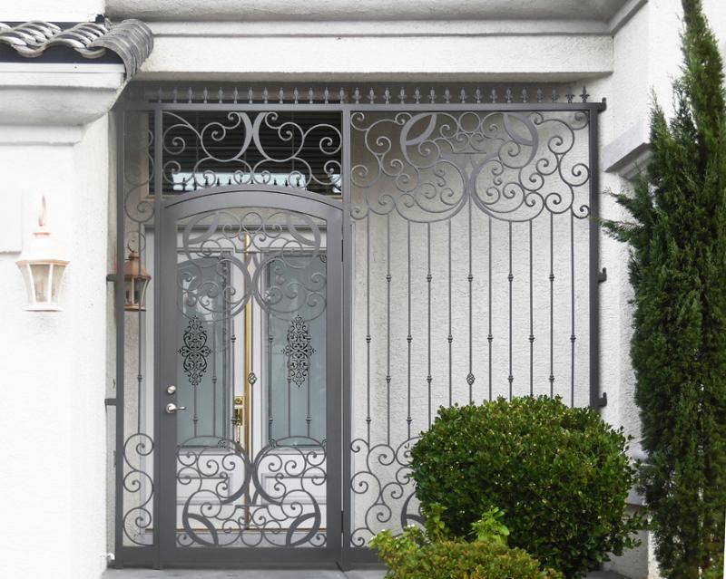Traditional Glasgow Entryway Door - Item EW0385A Wrought Iron Design In Las Vegas