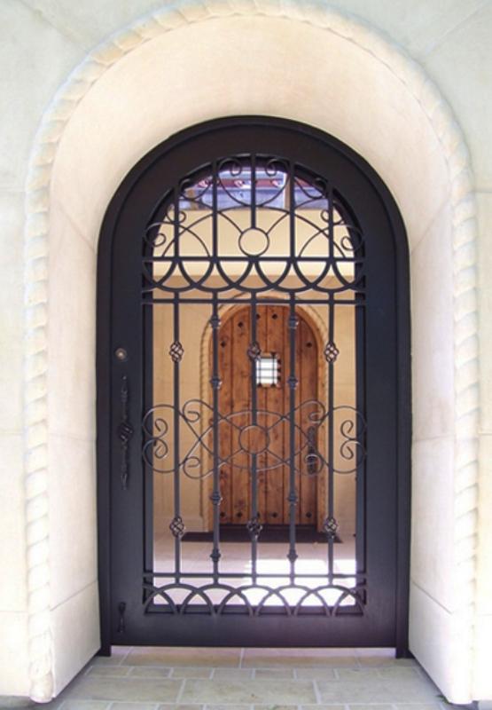 Traditional Jalisco Entryway Door - Item EW0235 Wrought Iron Design In Las Vegas