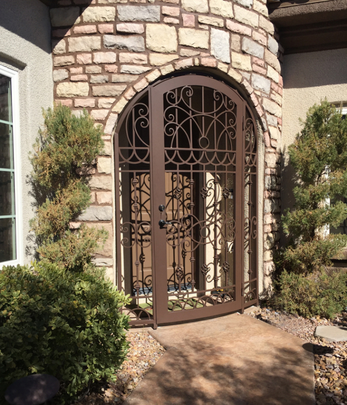 Traditional Jalisco Entryway Door - Item EW0235A Wrought Iron Design In Las Vegas
