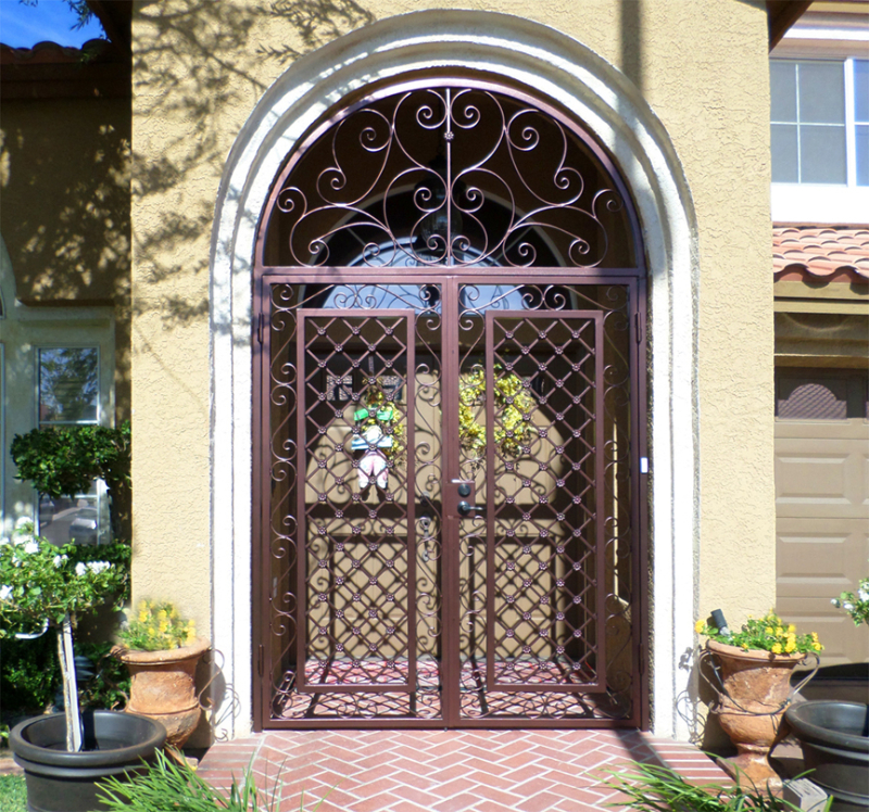 Traditional Marrakesh Entryway Door - Item EW0011A Wrought Iron Design In Las Vegas