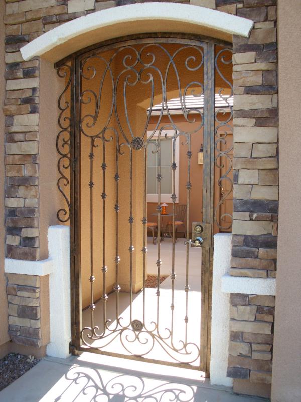 Traditional Marseille Entryway Door - Item EW0088 Wrought Iron Design In Las Vegas