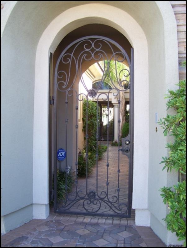 Traditional Marseille Entryway Door - Item EW0088A Wrought Iron Design In Las Vegas