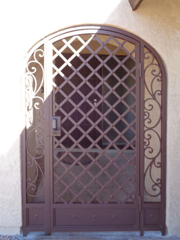 Traditional Paisley Entryway Door - Item EW0381A Wrought Iron Design In Las Vegas