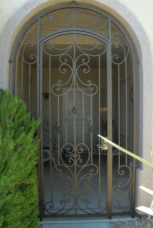 Traditional Papillion Entryway Door - Item EW0095 Wrought Iron Design In Las Vegas