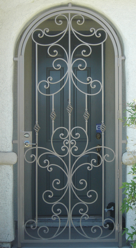 Traditional Papillion Entryway Door - Item EW0223 Wrought Iron Design In Las Vegas
