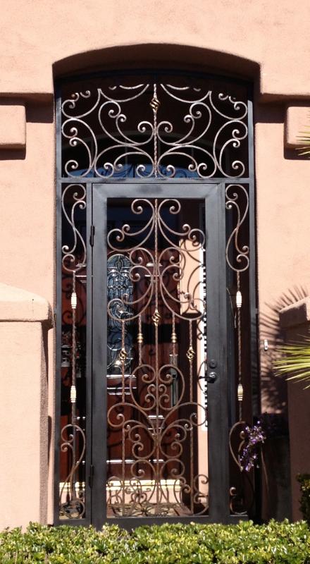 Traditional Papillion Entryway Door - Item EW0292 Wrought Iron Design In Las Vegas
