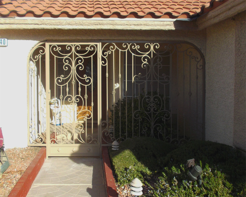 Traditional Papillion Entryway Door - Item EW0337 Wrought Iron Design In Las Vegas