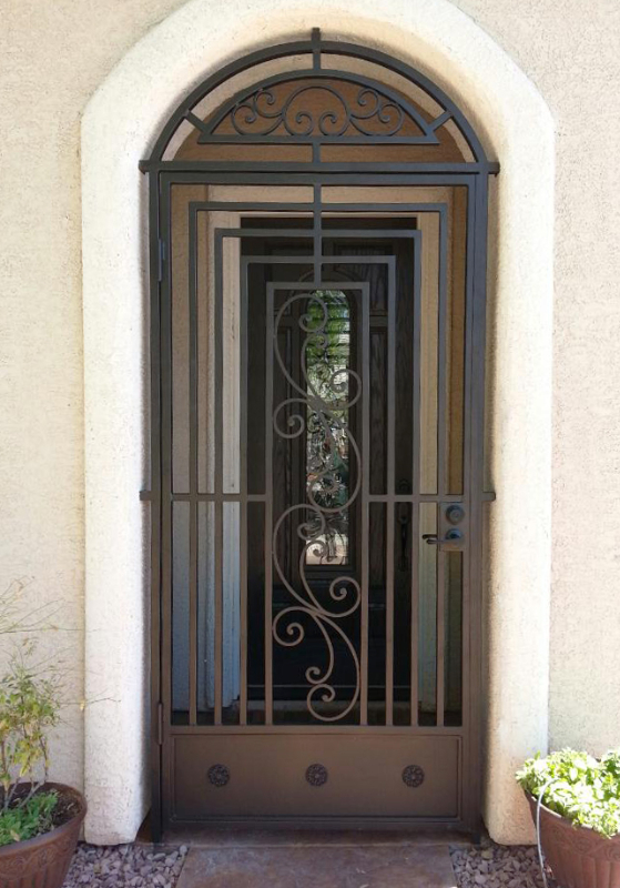 Traditional Prato Entryway Door - Item EW0210 Wrought Iron Design In Las Vegas