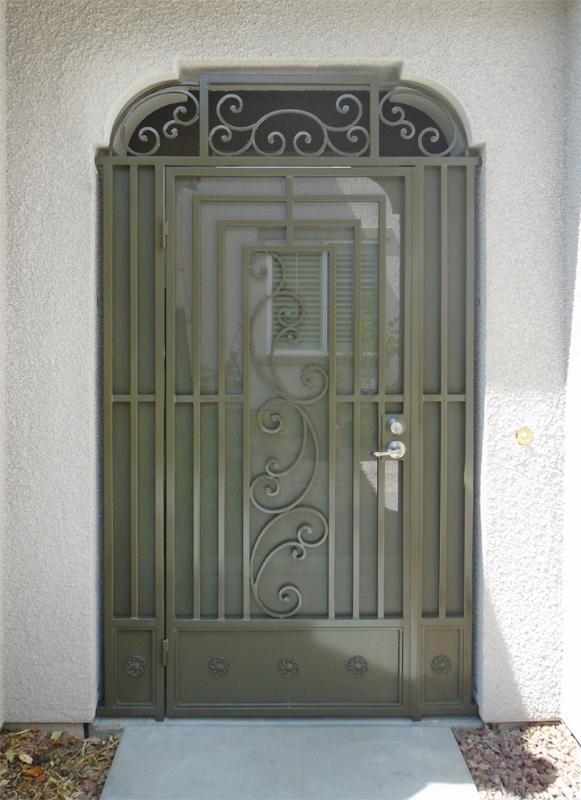 Traditional Prato Entryway Door - Item EW0210A Wrought Iron Design In Las Vegas