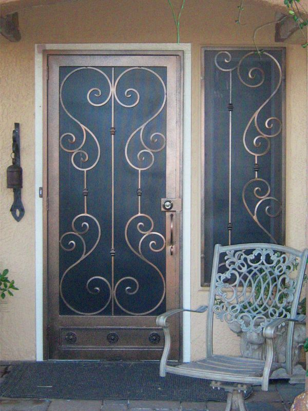 Traditional Window Guard SD0047 Wrought Iron Design In Las Vegas