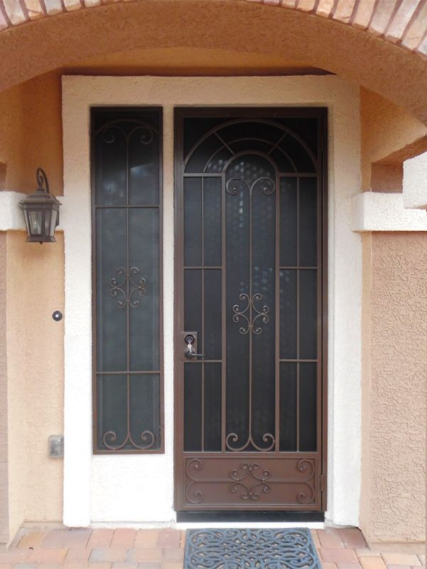 Traditional Window Guard SD0240 Wrought Iron Design In Las Vegas
