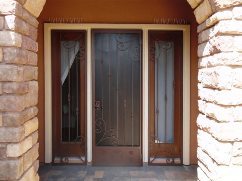 Traditional Window Guard SD0258 Wrought Iron Design In Las Vegas