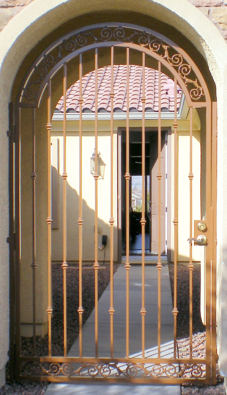 Traditional Santiago Entryway Door - Item EW0138 Wrought Iron Design In Las Vegas