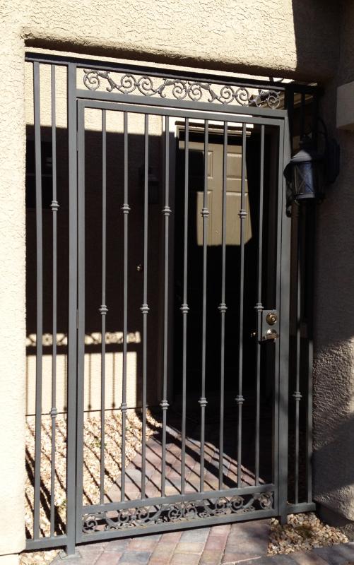Traditional Santiago Entryway Door - Item EW0294 Wrought Iron Design In Las Vegas