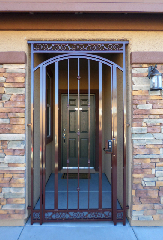 Traditional Santiago Entryway Door - Item EW0355 Wrought Iron Design In Las Vegas
