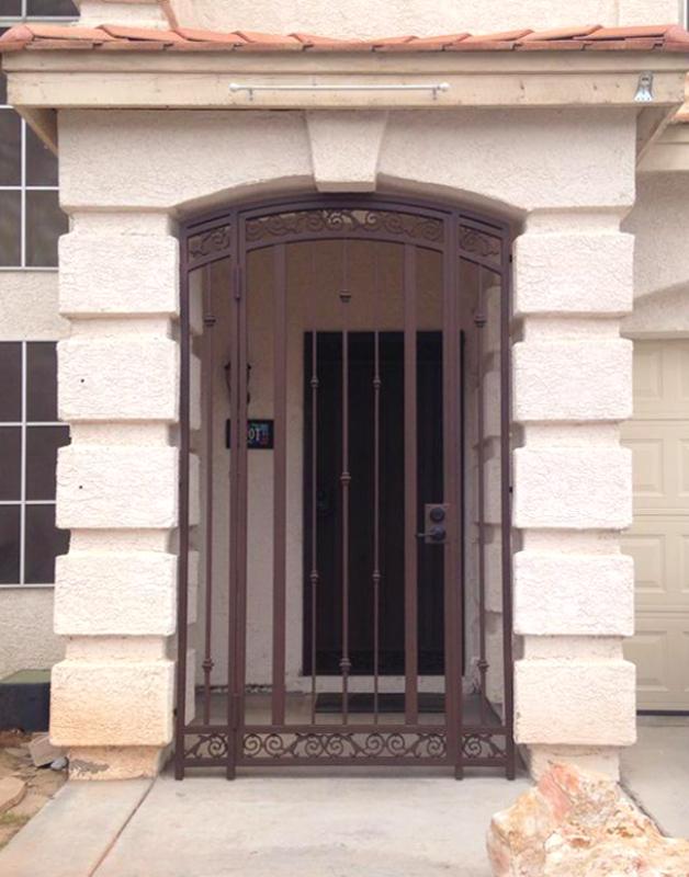 Traditional Santiago Entryway Door - Item EW0355A Wrought Iron Design In Las Vegas